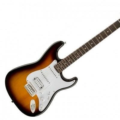 mat truoc guitar dien squier bullet stratocaster hss w trem brown sunburst