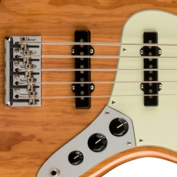 bo phan dien tu guitar dien Fender American Pro II Jazz Bass V MN, Roasted Pine