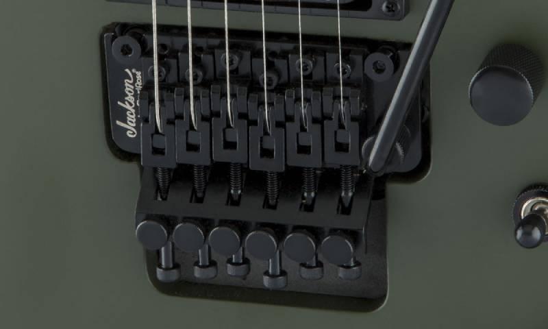 ngua dan guitar dien jackson series king v js32 matte army drab