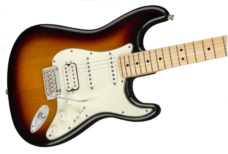 than dan guitar dien fender player stratocaster hss mn 3 color sunburst