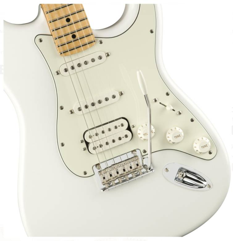 than dan guitar dien fender player stratocaster hss mn polar white