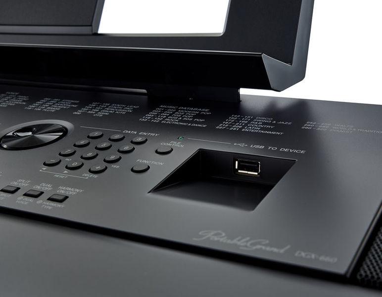 am thanh tich hop tren dan piano dien Yamaha DGX-660