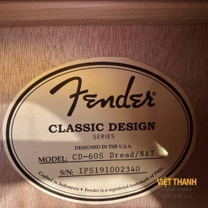 tem guitar Fender CD-60S
