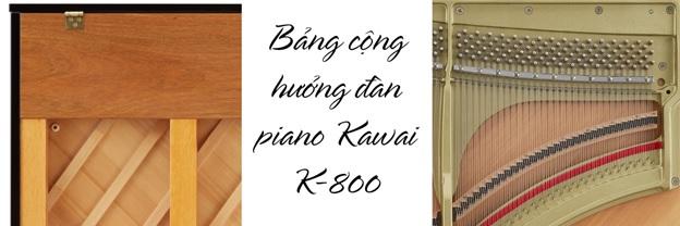 bang cong huong dan piano kawai k800