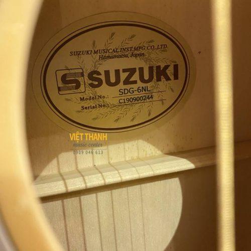 ben trong guitar suzuki sdg-6nl