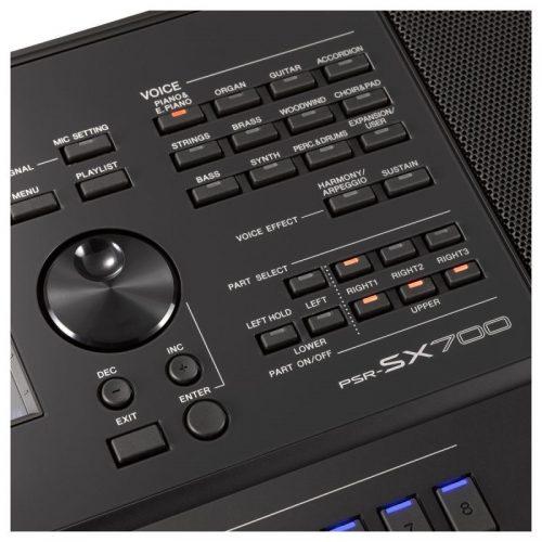 nut dieu khien tren keyboard Yamaha PSR-SX700