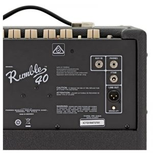 bang dieu khien ampli guitar bass Fender Rumble 40