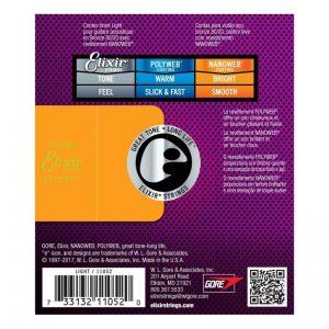 Elixir E11052 Nanoweb Light Acoustic Guitar Strings