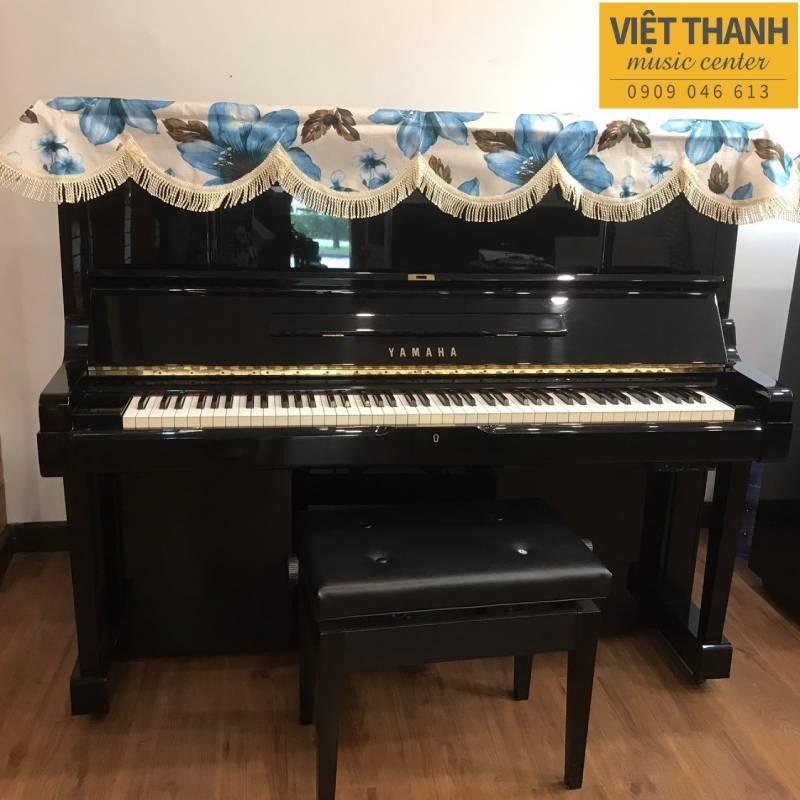 khan phu dan piano mau kem hoa tiet hoa xanh duong lon