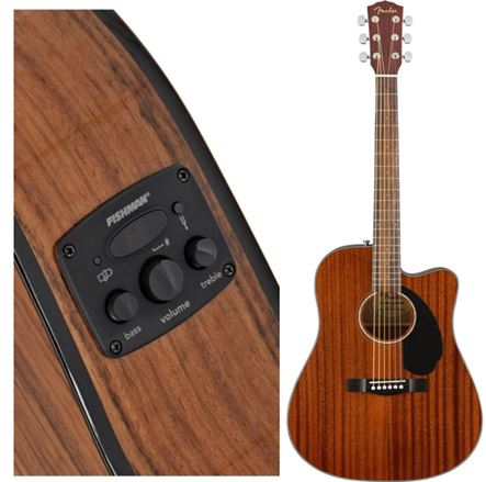 Guitar Acoustic FENDER CD-60SCE MAH co eq