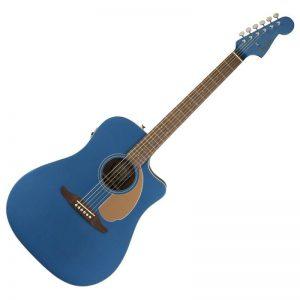 dan guitar Fender Redondo Player mau xanh duong