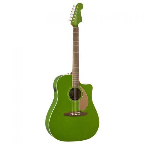 dan guitar Fender Redondo Player xanh la cay