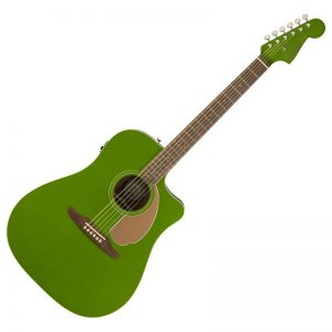 guitar Fender Redondo Player xanh la cay