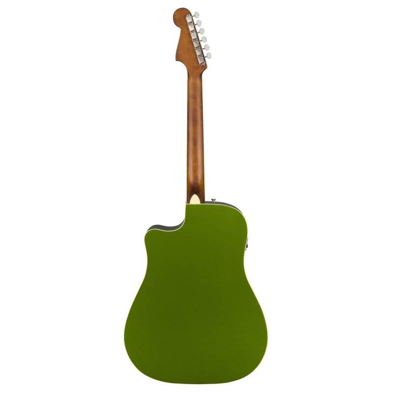 mat sau guitar Fender Redondo Player xanh la cay