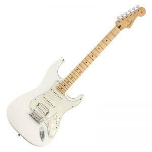 dan guitar dien fender player stratocaster hss mn polar white