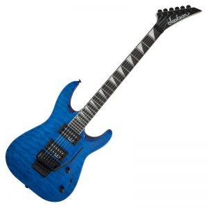 dan guitar dien jackson series dinky arch top js32q dka ht transparent blue