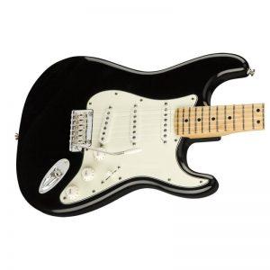 mat truoc dan guitar dien fender player stratocaster mn black