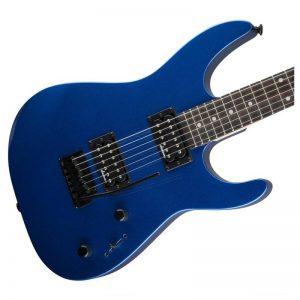 mat truoc dan guitar dien jackson series dinky js11 metallic blue