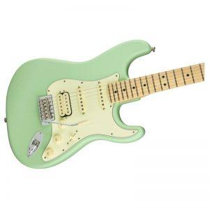 mat truoc guitar dien fender american performer stratocaster hss mn satin surf green