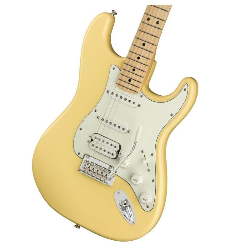 mat truoc guitar dien fender player stratocaster hss mn buttercream
