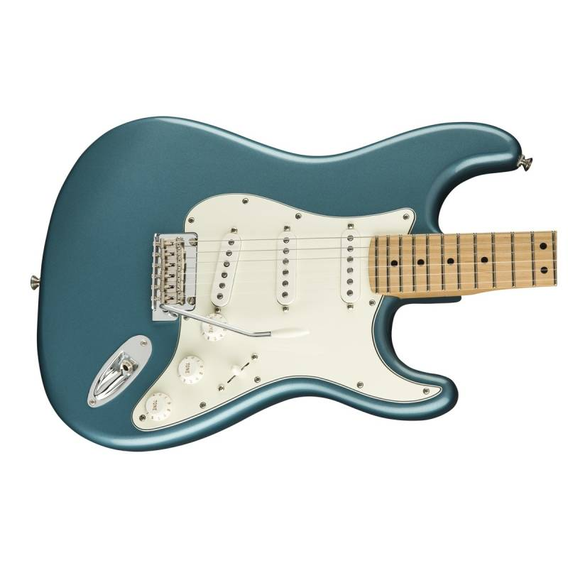 mat truoc guitar dien fender player stratocaster mn tidepool