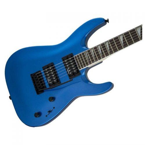 mat truoc guitar dien jackson series dinky arch top js22 dka metallic blue