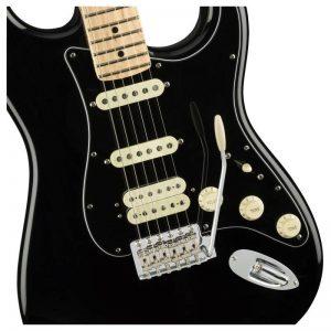 mat truoc guitar fender american performer stratocaster hss mn black