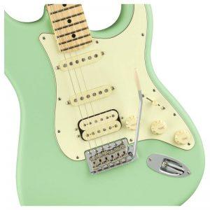 thung dan guitar dien fender american performer stratocaster hss mn satin surf green