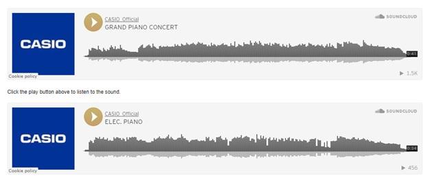am thanh dan piano casio cdp-s160