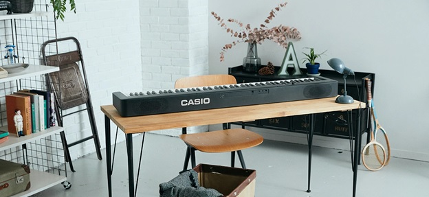 ban phim Scaled Hammer Action Keyboard tren piano casio cdp-s160