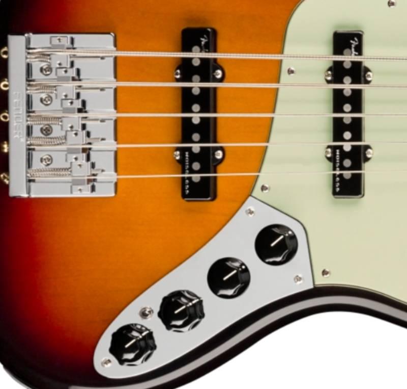 bo phan dien tu guitar Bass Fender American Ultra Jazz Bass V Rosewood Fingerboard Ultraburst