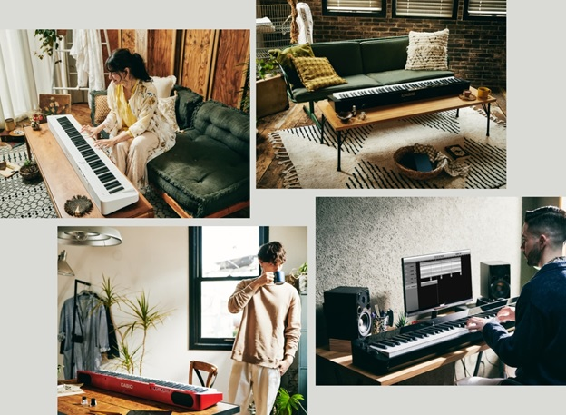 cac kieu dang cua dan piano dien Casio PX-S1100