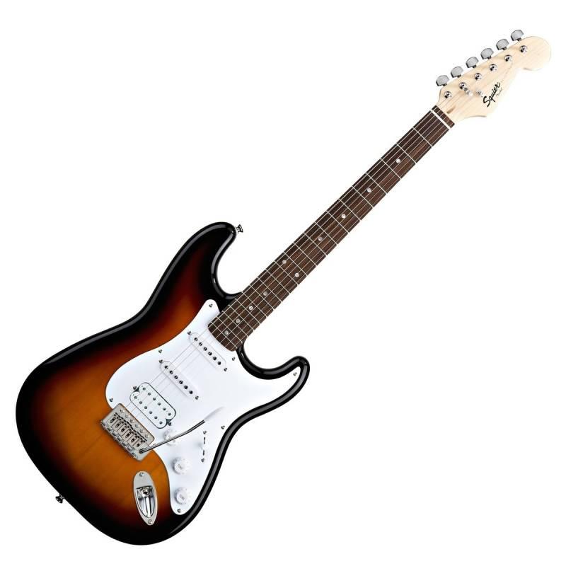 dan guitar dien squier bullet stratocaster hss w trem brown sunburst