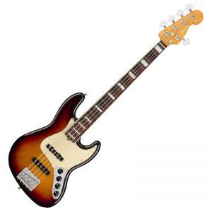 guitar bass fender american ultra jazz bass v rw ultraburst