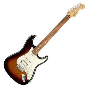 guitar dien fender player stratocaster hss pf 3 color sunburst