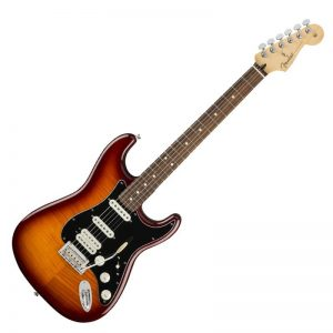 guitar dien fender player stratocaster hss plus top pf tobacco burst