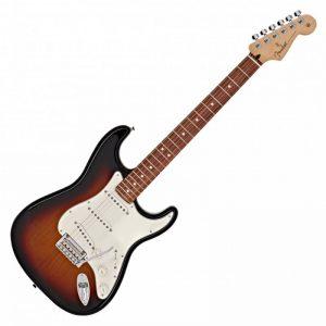 guitar dien fender player stratocaster pf 3 colors sunburst