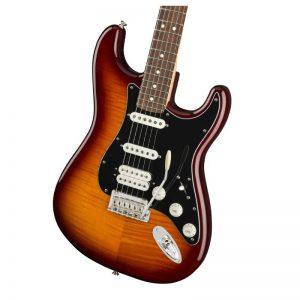 lung dan guitar dien fender player stratocaster hss plus top pf tobacco burst