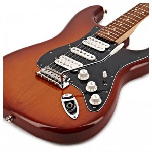 mat truoc guitar dien fender player stratocaster hsh pf tobacco burst