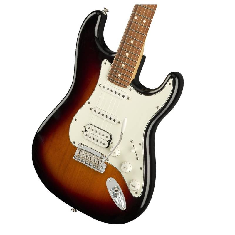 mat truoc guitar dien fender player stratocaster hss pf 3 color sunburst