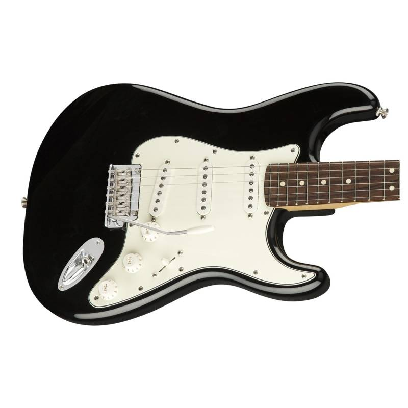 mat truoc guitar dien fender player stratocaster pf black