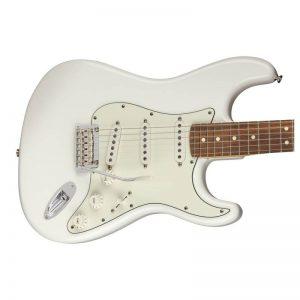 mat truoc guitar dien fender player stratocaster pf polar white