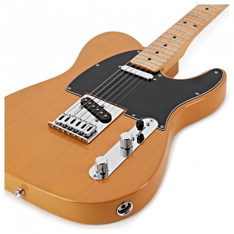 mat truoc guitar dien fender player telecaster mn butterscotch blonde