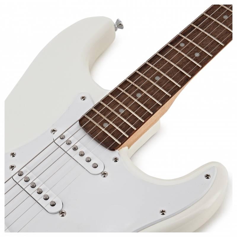mat truoc guitar dien squier bullet stratocaster w trem arctic white