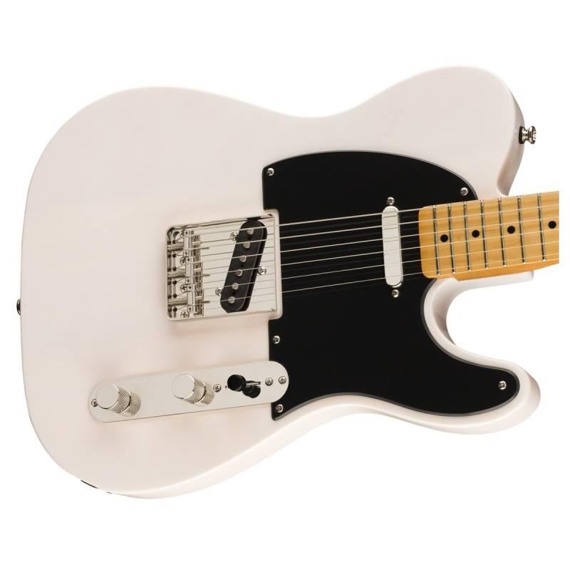 mat truoc guitar dien squier classic vibe 50s telecaster mn white blonde