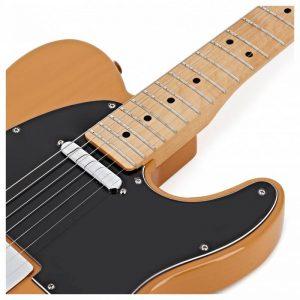 mat truoc guitar fender player telecaster mn butterscotch blonde