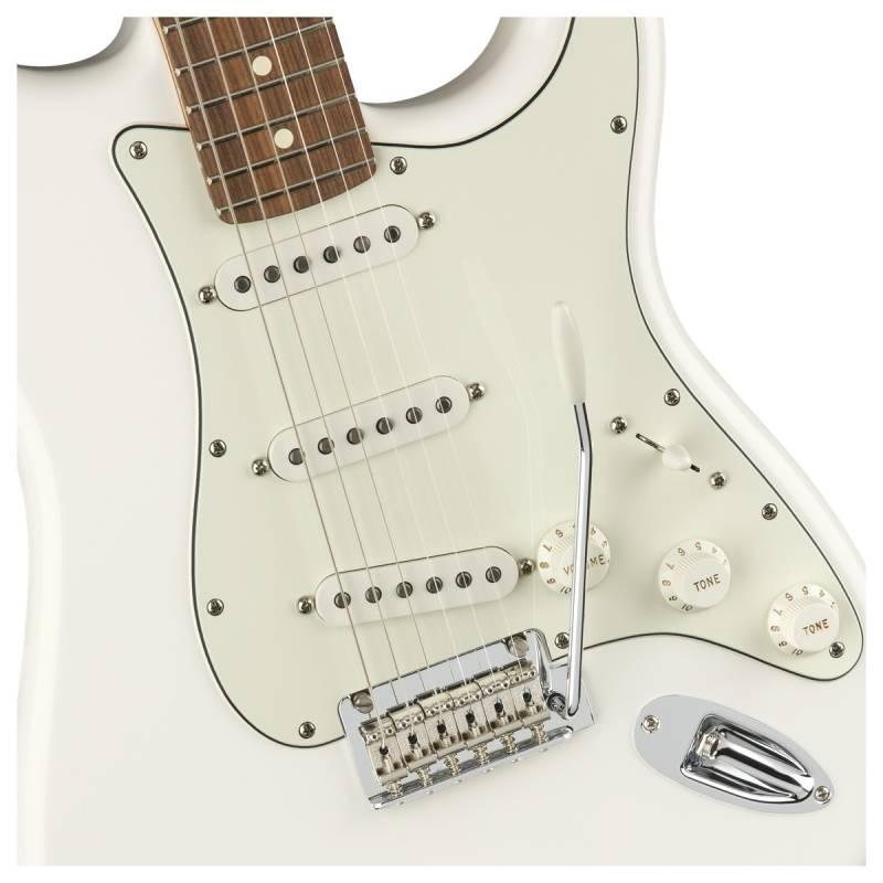 than dan guitar dien fender player stratocaster pf polar white