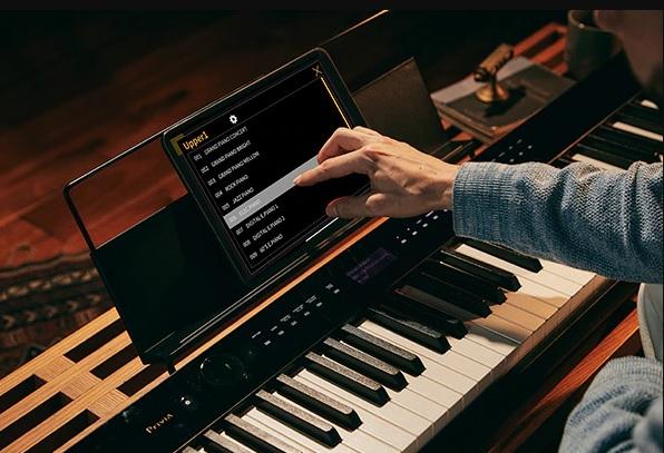 tich hop ung dung Chordana Play for Piano tren dan casio px-s3100