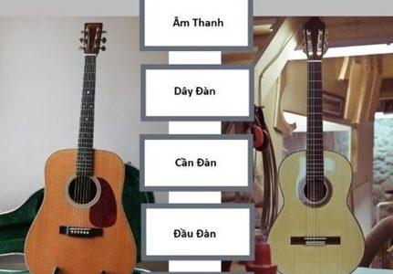 Đàn Guitar Acoustic và Guitar Classic khác nhau như thế nào?