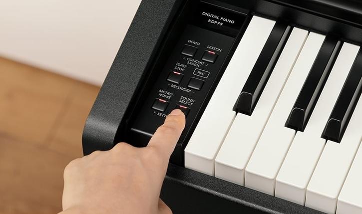 cac nut chuc nang dan piano dien kawai kdp-120